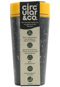 Circular&Co - CIRCULAR & CO KAFFEEBECHER TO GO MIT DECKEL - 340ml - Trinkflasche - Autres accessoires - schwarz / gelb - 7