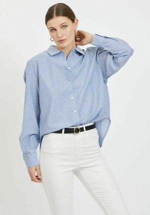 Button-down blouse - colony blue