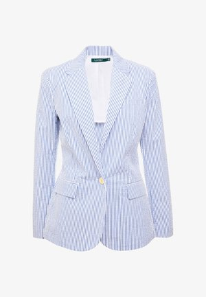 SEERSUCKER - Blazer - blue/white