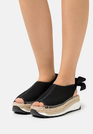 VILLA - Platform sandals - black