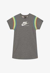 Nike Sportswear - HERITAGE DRESS - Day dress - carbon heather/white - 3