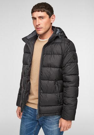 ABNEHMBARER KAPUZE - Winter jacket - black