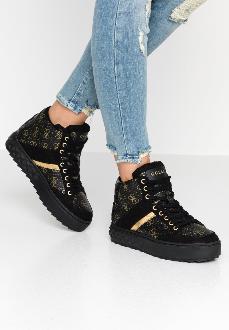 Guess - FIXIN - Sneakersy wysokie - black