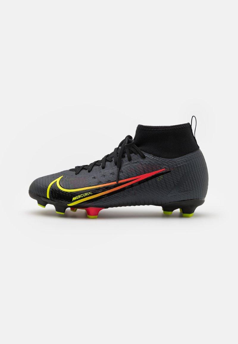 Nike Performance - MERCURIAL JR 8 PRO FG UNISEX - Kopačky lisovky - black/cyber/off noir