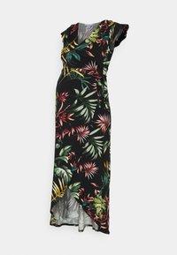 Envie de Fraise - ADELAIDE - Sukienka z dżerseju - black/palm leaves multicolour - 0