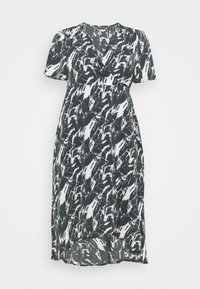Missguided Plus - HIGH LOW DRESS - Maxi dress - navy - 0