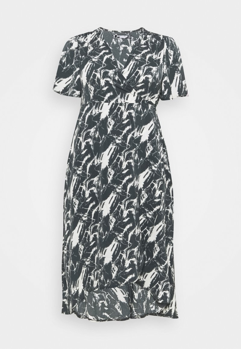 Missguided Plus - HIGH LOW DRESS - Maxi dress - navy