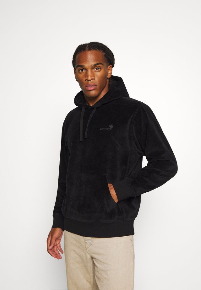 HOODED UNITED SCRIPT  - Felpa con cappuccio - black