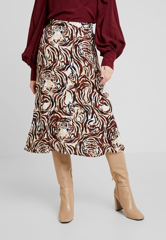 KEYLA SKIRT - A-linjainen hame - brown