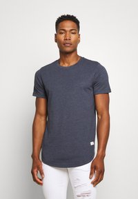 Jack & Jones - ENOA TEE CREW NECK MELANGE 5 PACK - Camiseta básica - olive night/olive/navy/rio - 5