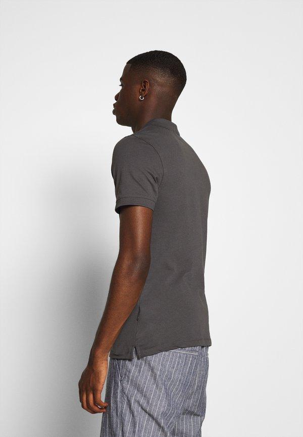 Zign MUSCLE FIT - Koszulka polo - dark gray/ciemnoszary Odzież Męska KYWT