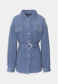 BELTED BUTTON UP JACKET  - Short coat - blue