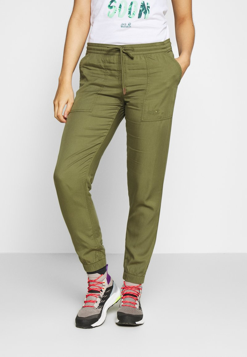 Jack Wolfskin - MOJAVE PANTS  - Trousers - delta green