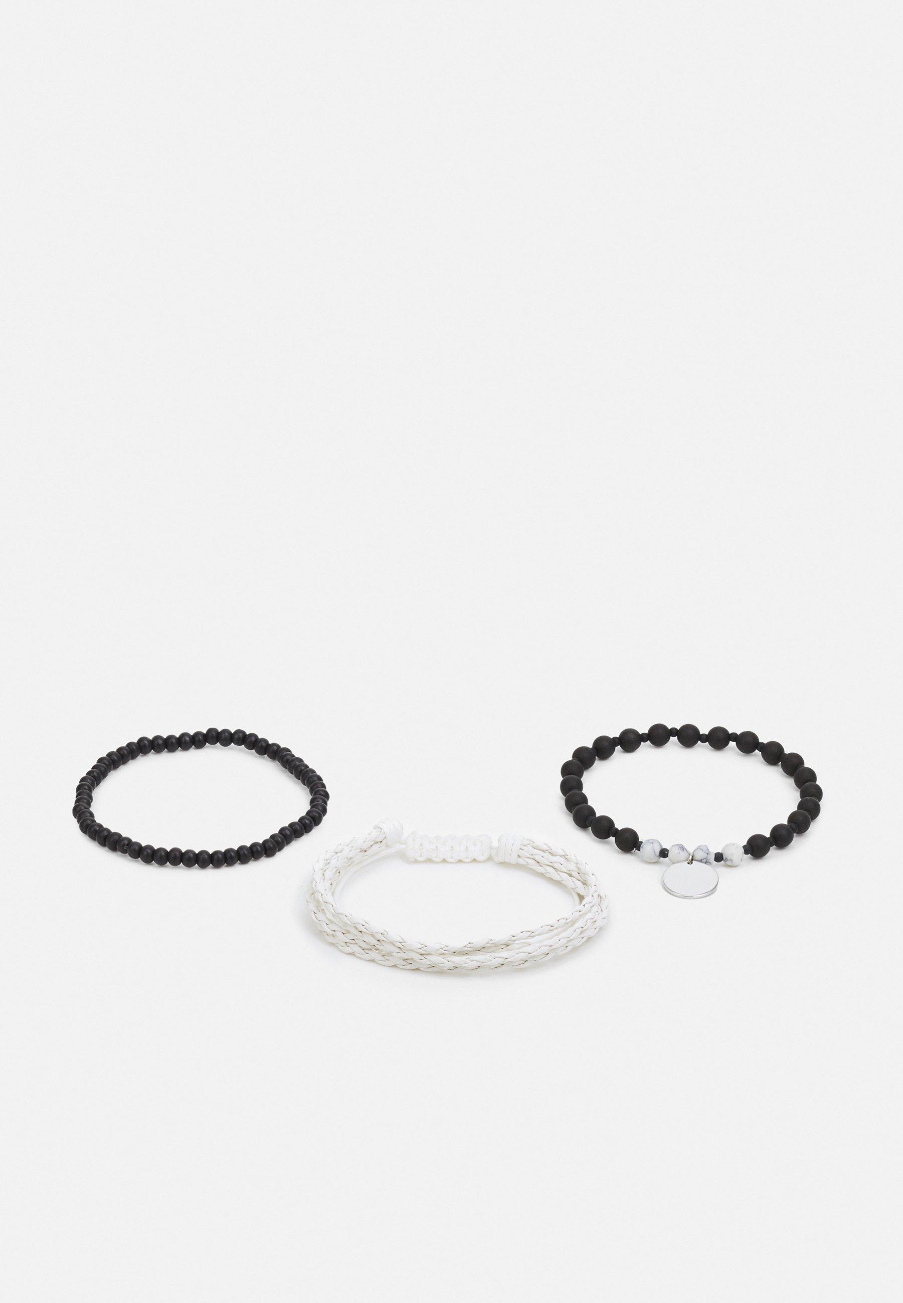 Men CREAM PLAIT 3 PACK - Bracelet