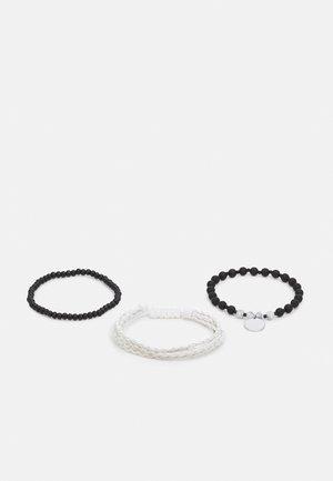 CREAM PLAIT 3 PACK - Bracelet - white multi