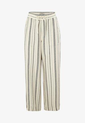 Trousers - white woven stripes