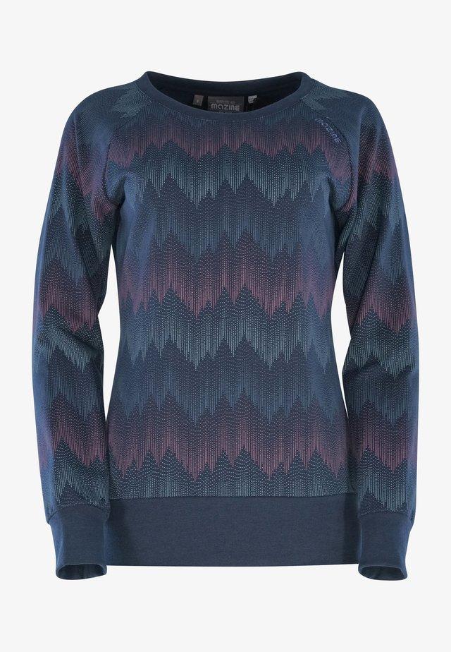 Sweatshirt - navy / zigzag