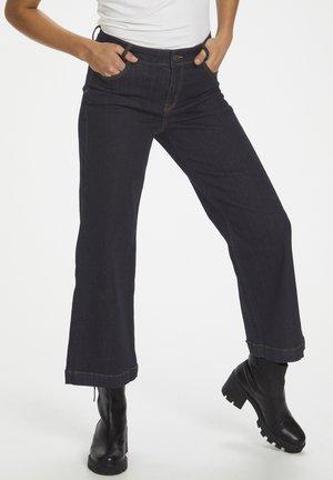 Flared Jeans - dark blue un-wash