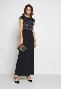 Lace & Beads - MERMAID WRAP MAXI - Suknia balowa - navy - 1