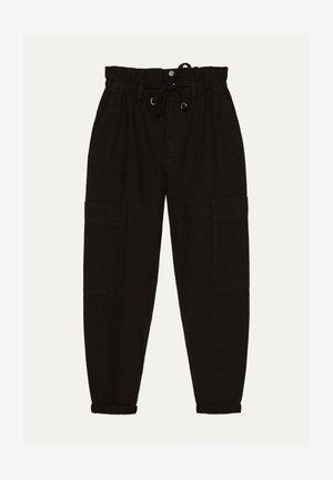 PAPERBAG-HOSE  - Trousers - black