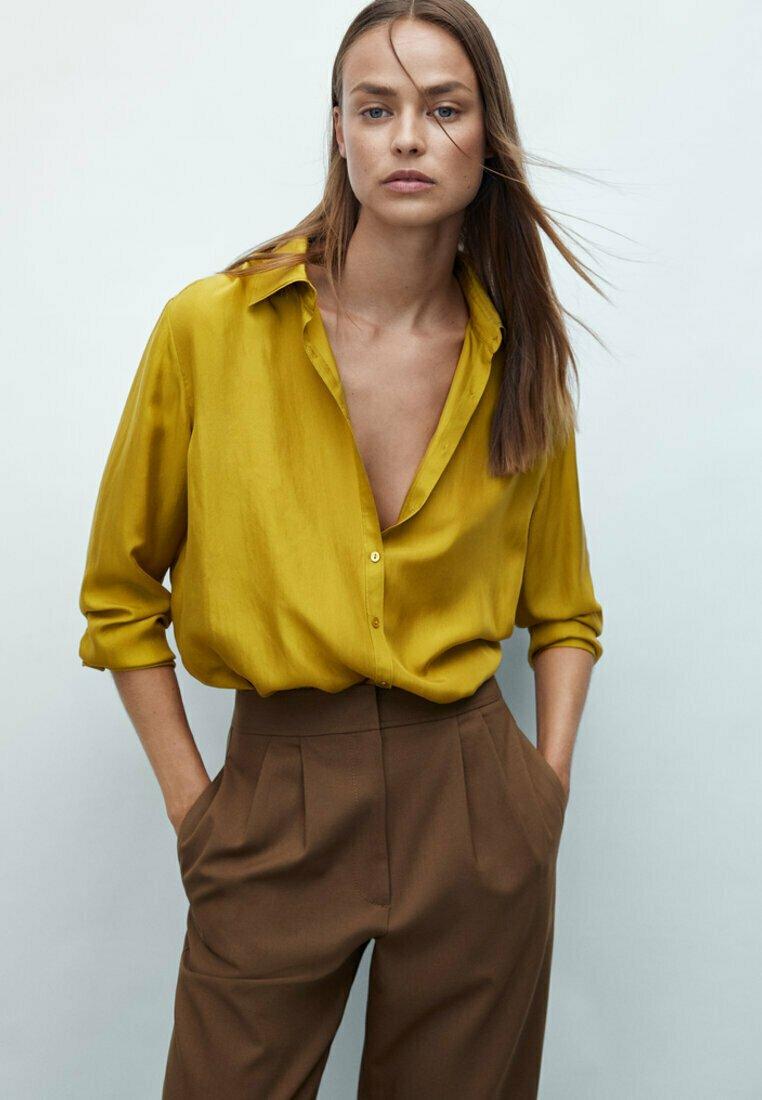 Massimo Dutti - Koszula - mustard yellow