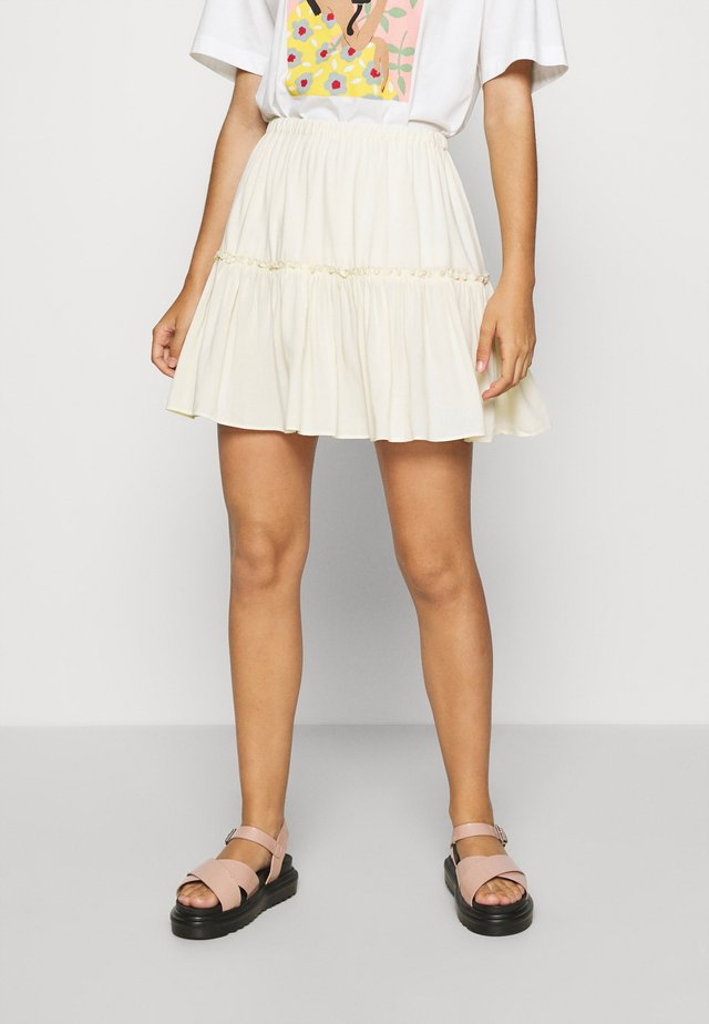 PAMELA REIF FRILL SKIRT - A-linjekjol - cloud cream