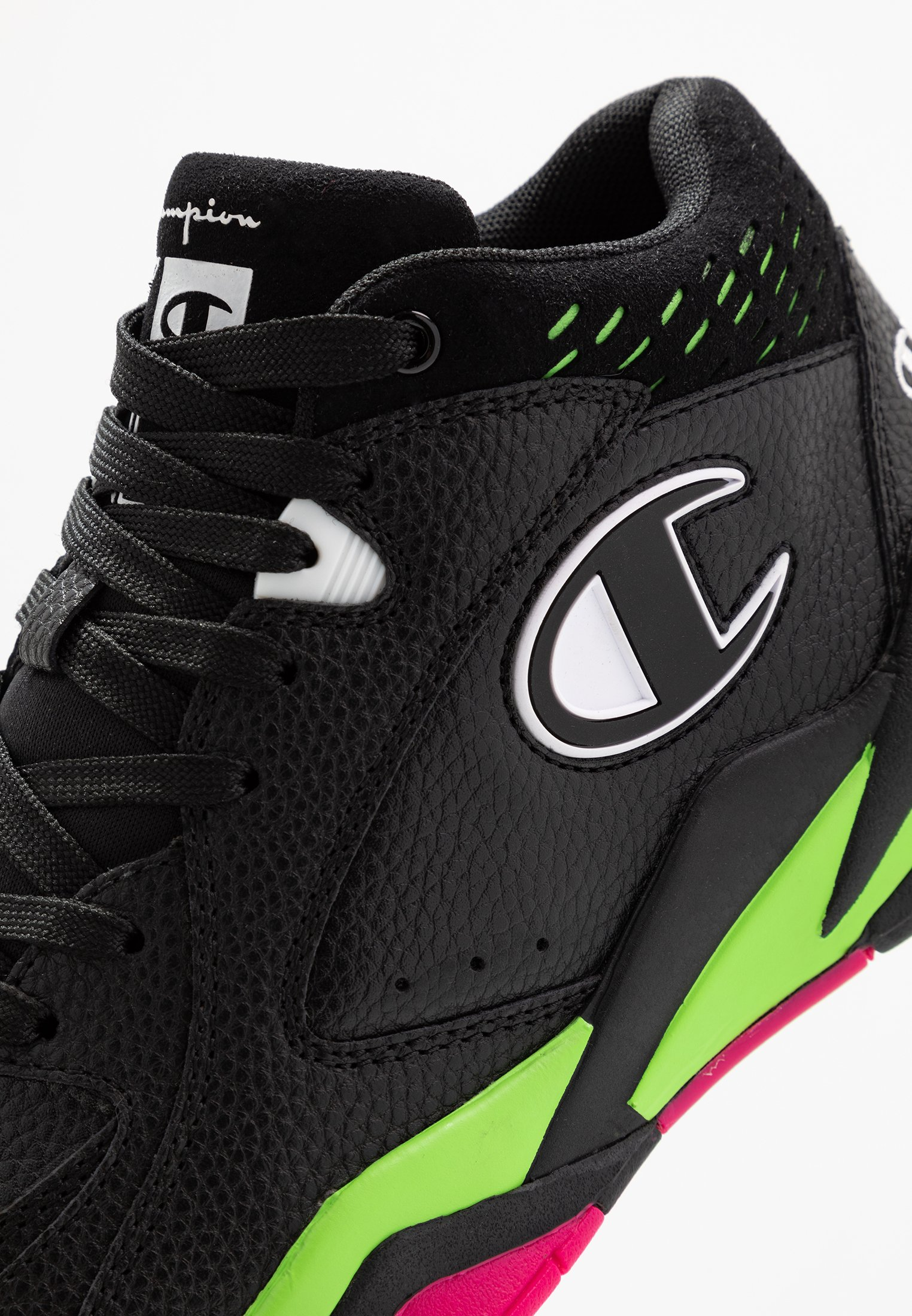 Champion MID CUT SHOE ZONE 90'S Basketballsko blackfluo