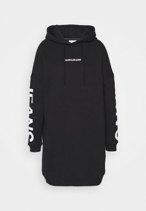 INSTITUTIONAL LOGO HOODIE DRESS - Freizeitkleid - black