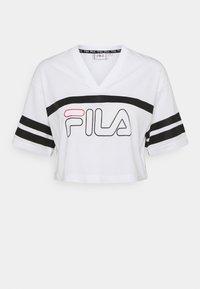 Fila - JAINA CROPPED SPORTY TEE - Print T-shirt - bright white - 0