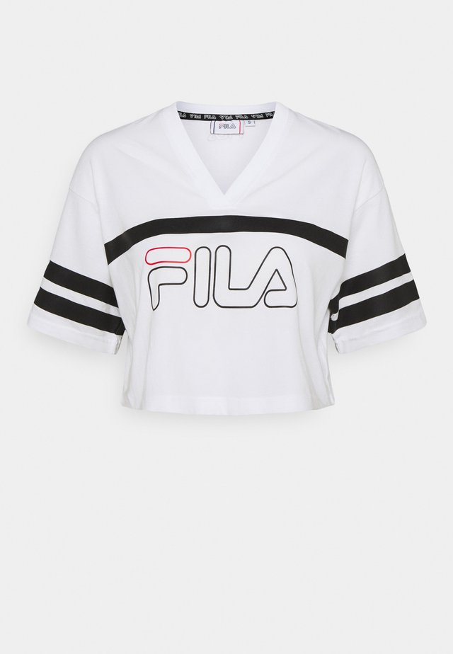 JAINA CROPPED SPORTY TEE - T-shirt imprimé - bright white