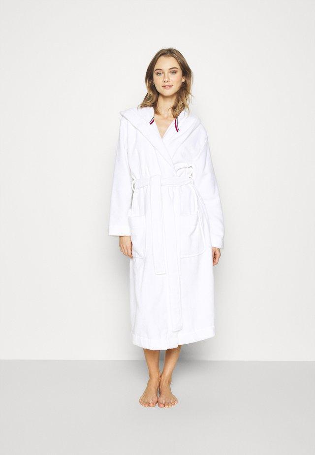 ORIGINAL HOODED BATHROBE - Dressing gown - classic white
