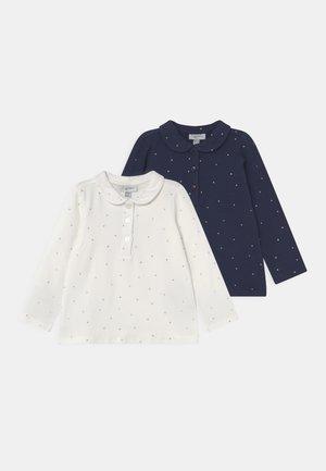 GLITTER 2 PACK - Polo shirt - medieval blue/snow white