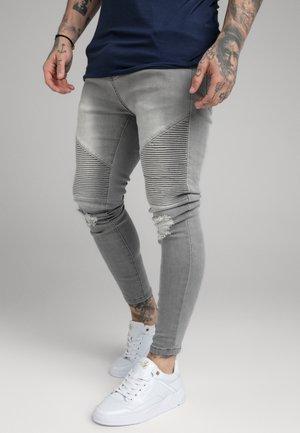 DISTRESSED BIKER  - Jeans Skinny - washed grey