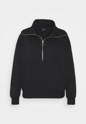 VMNATALIE ZIPPER - Sweatshirt - black