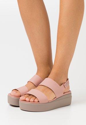 BROOKLYN LOW WEDGE - Sandalen met plateauzool - pale blush/mushroom