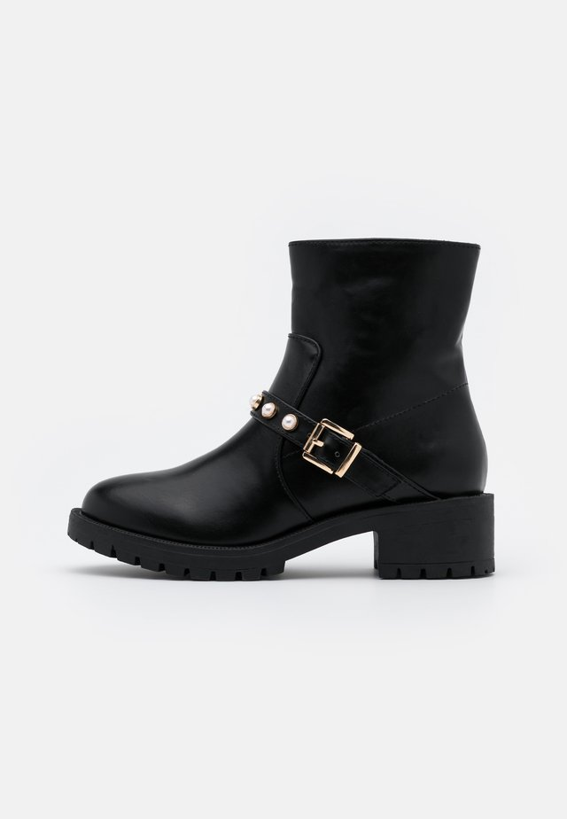 BIAPEARL BASIC BIKER BOOT - Stiefelette - black
