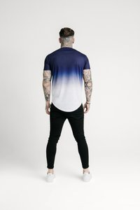 SIKSILK - SHADOW FADE - T-shirt con stampa - navy/white - 2
