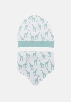 RETRO HAT BIB SET UNISEX - Halsdoek - light teal