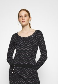 Ragwear - ALEXA ZIG ZAG - Denní šaty - black - 3