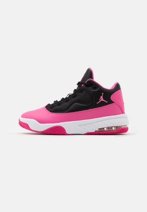 MAX AURA 2 UNISEX - Basketball shoes - black/pinksicle/white