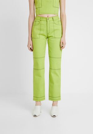 OLYMPIA JEANS - Džíny Straight Fit - lime green