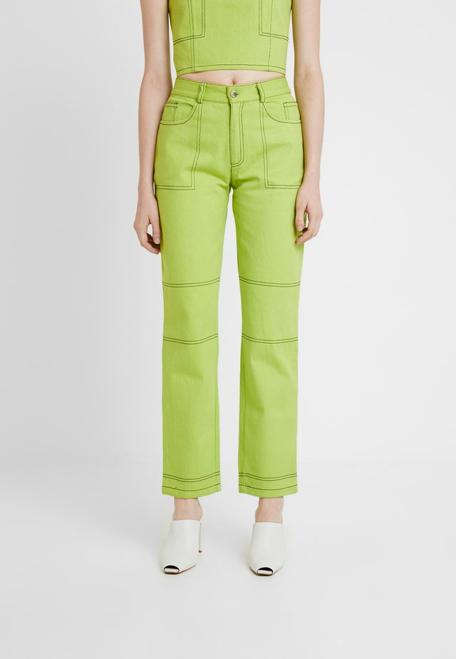 OLYMPIA JEANS - Straight leg jeans - lime green