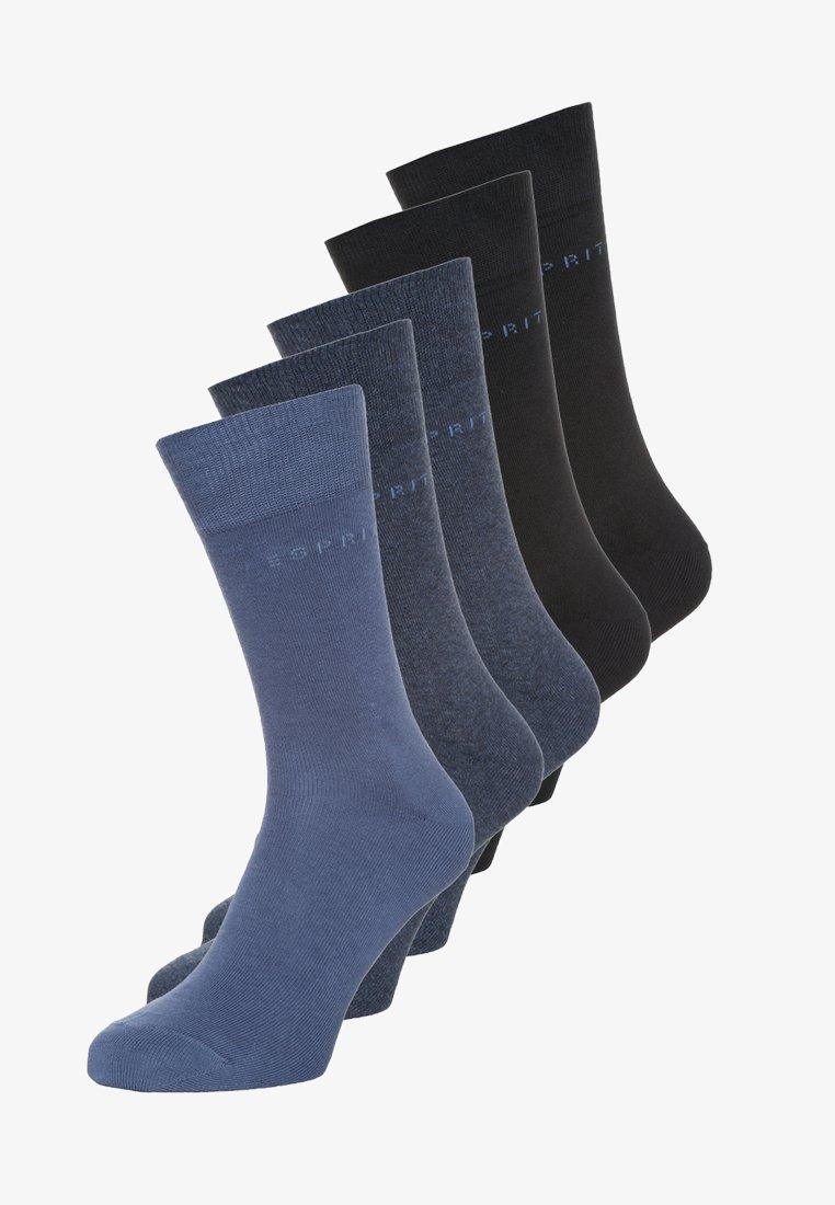Esprit - SOLID-MIX 5-PACK - Ponožky - blue
