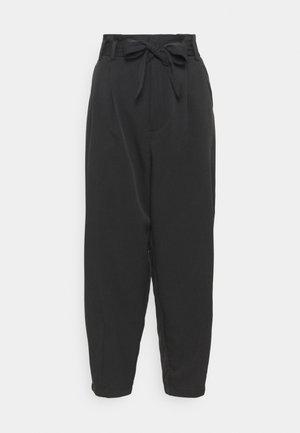 KALLY HIGH WAIST - Bukse - black
