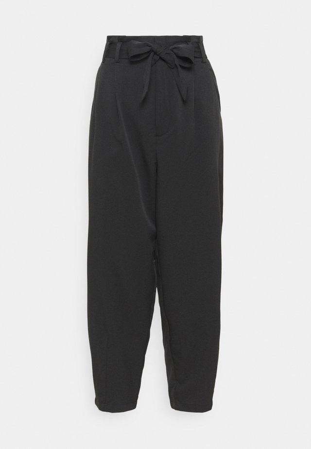 KALLY HIGH WAIST - Kalhoty - black