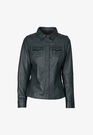 MEREDITH - Leather jacket - dark green
