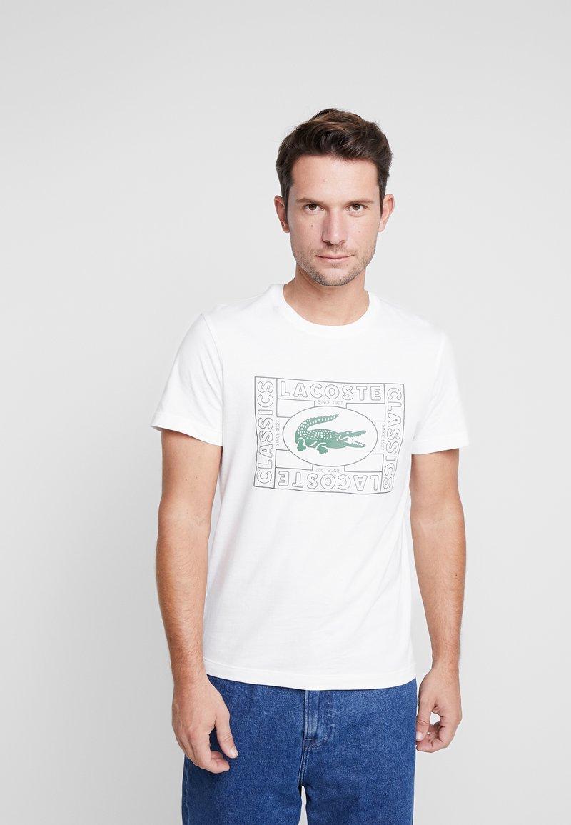 Lacoste - TH5097-00 - Print T-shirt - farine