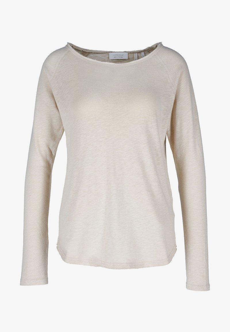 Rich & Royal - CAFFEE LATTE - Long sleeved top - beige