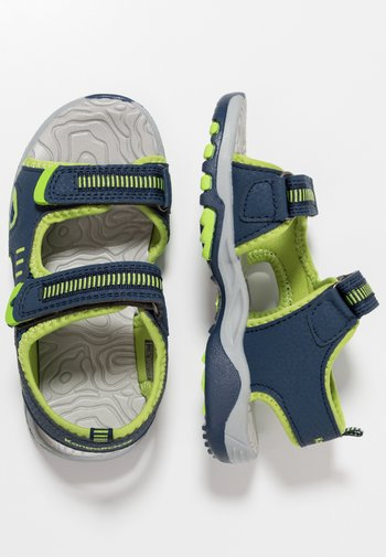 LOGAN - Walking sandals - dark navy/lime