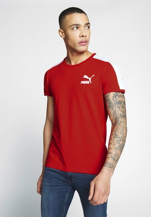 ICONIC - Print T-shirt - high risk red